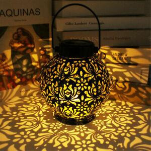 Solar Powered LED Morrocan Lantern Hanging Outdoor Garden Lamp Light Decor Yard