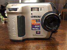 Sony Mavica MVC-FD100 1.2mp 4x Digital Camera. No Charger Fed Mavica Vintage