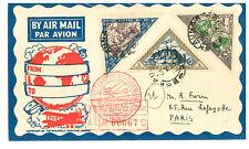 2 Lithuania Reg Airmail Covers 1933 Sc 63-70 Child Impf Kaunas Berlin Paris
