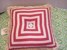 NWT Pink Stripe Croscill Throw Pillow