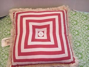 NWT Pink Stripe Croscill Throw Pillow