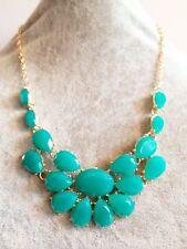 Candy Color Verde babero burbuja Verano Floral Boho Chic Collar Cadena de oro