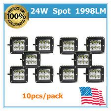 10pcs 24W Led Work Light Spot Beam Fits 4x4WD Off road Driving Jeep Lamp 18W/16W