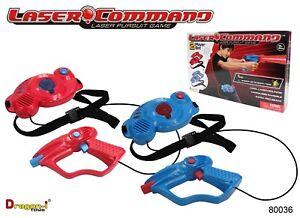Laser Command Infra-Red Laser Pursuit 2 Player Set Gun Battle Blaster Game NEW
