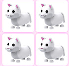 SALE - ROBLOX ADOPT ME PETS- 4 X SNOW PUMA`S. FOR YOU TO MAKE A NEON