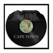 Cape Town South Africa Vinyl Wall Art Cityscape Vintage Office Decor with Frame