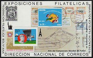 BOLIVIA, MICHEL # BLK65 MINI SHEET OF EXPOSICIONES FILATELICA, DERICCION CORREOS