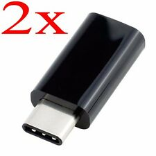 2stk. USB 3.1 Type-C Male to Micro USB Female Converter USB-C Adapter Konverter