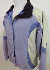 Womens L.L.Bean 100% Nylon Lavender Beige Lightweight Winter Coat Jacket Small