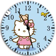 Hello Kitty and Bird Frameless Borderless Wall Clock Nice For Gifts or Decor X14