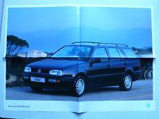 Prospekt Volkswagen VW Golf III Variant, 8.1993, 8 Seiten, folder, wie Poster