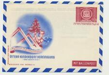 """AUSTRIA 1950 UPU 60g ENVELOPE """"KINDERDORF VEREINIGUNG"""" CACHET, UNUSED(SEE BELOW)"""