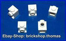 Lego 5 x Snot Konverter Stein 1x1 weiß - 4070 Bricks Headlight White - NEU / NEW