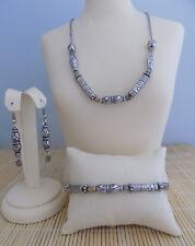 Brighton Classic -4 Necklace Bracelet & Earrings - 3 piece set