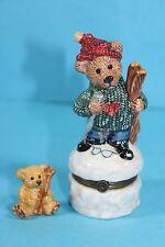 Le Bearmoge Collection Knut Downhill Racer Trinket Box Bearware Pottery