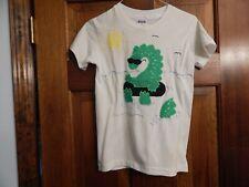 Vintage Sea Serpent Nessie? Applique T-shirt Outlined in Paint,Size M 10-12