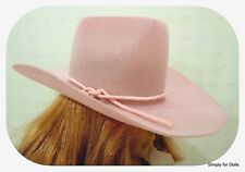 """PINK Western COWBOY DOLL HAT fits 18"""" AMERICAN GIRL Doll Clothes Accessory"""