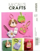 McCalls Crafts 5644 Cell Flip Phone Case Animals Flower Pattern 2008 UNCUT FF