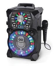 Singing Machine Karaoke Bluetooth w/ Microphone USB CD/G Audio Display SDL485BK