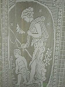 Antique fillet lace curtain