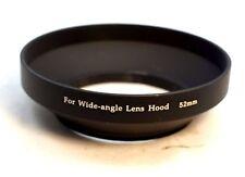 52mm Metal Lens hood lenses screw in type Wide Angle