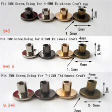 10set Flat Head Brass Solid Stud Screw Nail Rivets Leather Craft Wallet Belt  EB