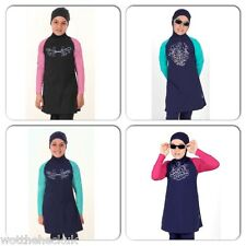 Girls Islamic Muslim Swimwear Modest Fit Burkini Full cover Kids One piece Arab