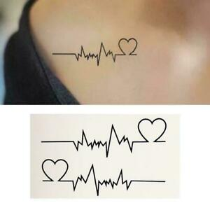 Waterproof Simulation Fashion Electrocardiogram Tattoo Sticker.