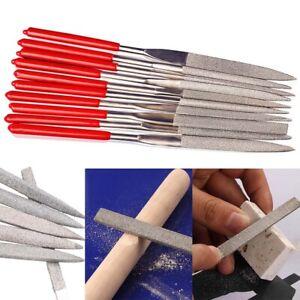 10x Diamond File Needle Tools 140mm Precision Metal Glass Stone Craft Hand Set