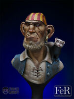 1/16 Unpainted Pirate Resin Bust Model Kits GK Unassembled