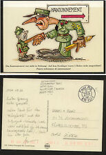 Switzerland military (comic) postal  card used  feldpost    KL0830