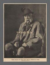 Kaiser Franz Josef von Österreich Adel Monarchie Jäger Tracht Hut 1910