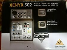 Behringer Xenyx Q502Usb 5-input Mixer With Usb