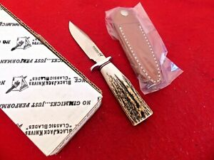 Blackjack USA genuine STAG BCB4S mint in box fixed blade knife & sheath