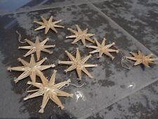 Strohsterne,8-er Set,Strohstern,mit Naturfaden,Stern,Weihnachtsstern,Deko,Stroh