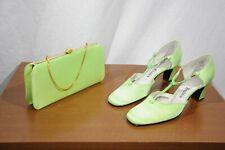 Vintage Realites Green Heels/pumps + Purse combo Mod Shoes Disco NWOT 70s 60s