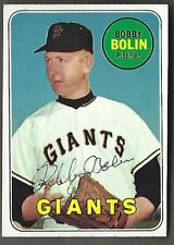 1969 Topps Bobby Bolin Card # 505 Autograph Signed SF Giants