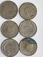 6x Turkish Lira Coins(1000 & 2500 Lira).