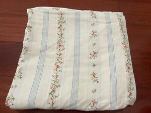 Vintage Ralph Lauren Julianne Striped Floral Cream King Flat Sheet Rare HTF