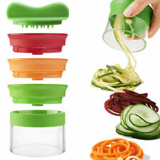 3in1 Handheld Spiralizer Noodle Zucchini Spaghetti Pasta Maker Vegetable Slicers