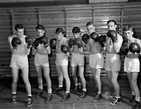 "1947 High School Boxing Team, Oak Ridge TN Vintage/ Old Photo 8.5"" x 11"" Reprint"