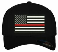 Thin Red Line USA Flag/ Embroidered Ball Cap/ Free Shipping