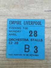YES concert ticket 1975 Liverpool Empire - Relayer tour