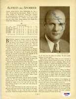 Al Spohrer Psa Dna Coa Autograph 1933 Who`s Who 8x10 Photo Page Signed