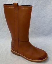 Girls Clarks Calf High BOOTS Tildy Grace Light Tan (brown) UK 1 G 11932b638ebba