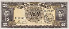 Filippine/Philippines 20 pesos (1949-69) Pick 137e