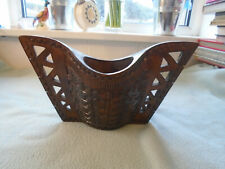 Vintage Abstract  Collectable Wood Carved  Winged Vase