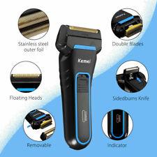 KEMEI Dual Foil Shaver Men Pro Electric Rechargeable Razor Clipper Edges Trimmer