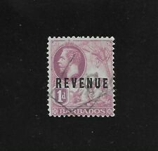 L4324 Barbados Revenue stamp duty 1d