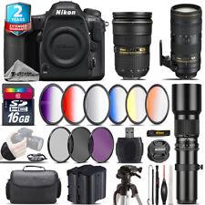Nikon D500 DSLR + AFS 24-70mm 2.8G + 70-200mm 2.8E VR Lens + Extra Battery +16GB